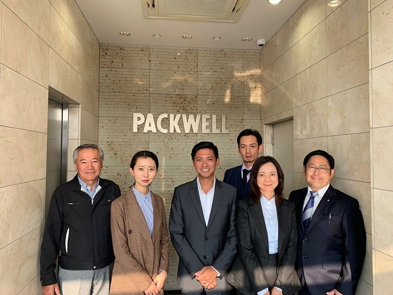 EXPANSION. Japanese firm Packwell, Inc. will be having a major expansion this year as it sets up shop at the Anflocor Industrial Estate in Panabo City, Davao del Norte. DLI first vice president Ricardo Lagdameo joins the team of Packwell (from left), Chairman Masahito Hoshino, Sales Officer Chang Anqi, COO Yuichi Yamagishi, General Manager Song Hongxia, and CEO Keiji Ogawa. (Photo courtesy of Damosa Land Incorporated)