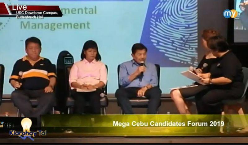 Screenshot from Mega Cebu Candidates Forum Facebook page