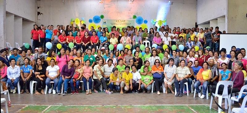 BACOLOD. DAR Western Visayas officials led by Regional Director Stephen Leonidas (seated, third from right) with representatives of recipient-Arbos during the launching of Convergence on Livelihood Assistance for ARBs Project at Negros Occidental Multipurpose Activity Center in Bacolod City on Friday, April 26, 2019. (Contributed photo)