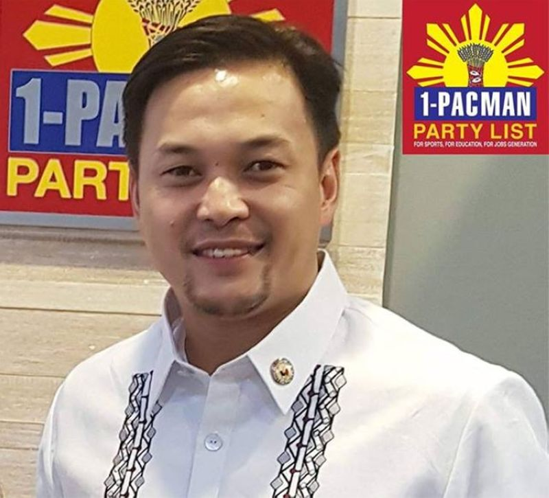 MANILA. Representative Mikee Romero of 1-Pacman partylist. (Photo from 1-Pacman Facebook page)