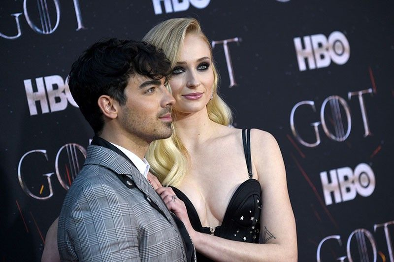 Joe Jonas and Sophie Turner. (AP)