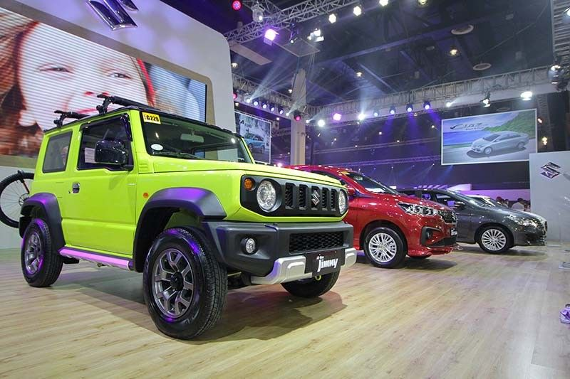 Suzuki Philippines highlights its most valued vehicles at the Manila International Auto Show 2019: The multi-function seven-seater Ertiga, multi-awarded subcompact sedan Ciaz, bold and relentless 4x4 all-new Jimny, well-loved hatchback Swift, exquisite sedan Dzire and stylish SUV Vitara. (Contributed Photos)