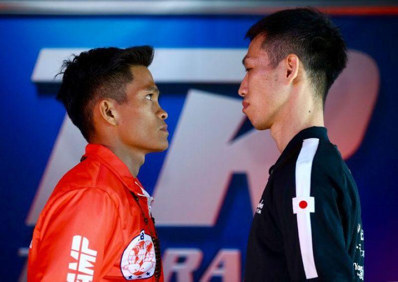 LIVE: Isalida sa ABS-CBN S A nga live ang world title fight nila ni IBF super flyweight king Jerwin Ancajas (wa) batok Ryuichi Funai (tuo) karong Dominggo sa alas 10:00 sa buntag. (Boxingscene)