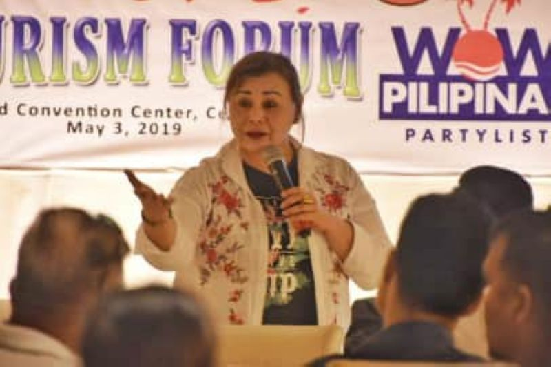 THE PERKS OF BEING A TEZ. Philippine Economic Zone Authority Director General Charito Plaza says the tax perks they are offering will boost the tourism industry even further. (SunStar Photo/Allan Cuizon)