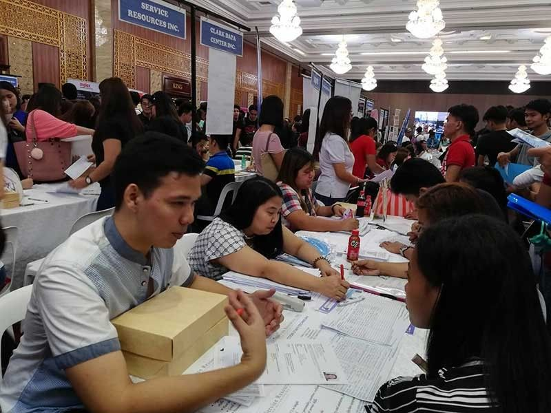 PAMPANGA. Jobseekers flock the 117th Labor Day Job and Business Fairs on Wednesday, May 1. (Contributed photo)