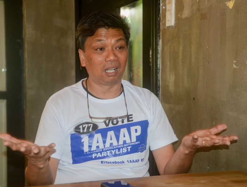 CEBU. Mike Pato, second nominee of 1AAAP party-list says Cebu can stand alone without the financial assistance from Manila if only it retains a bigger part of the income it generated. (SunStar Photo/Arni Aclao)