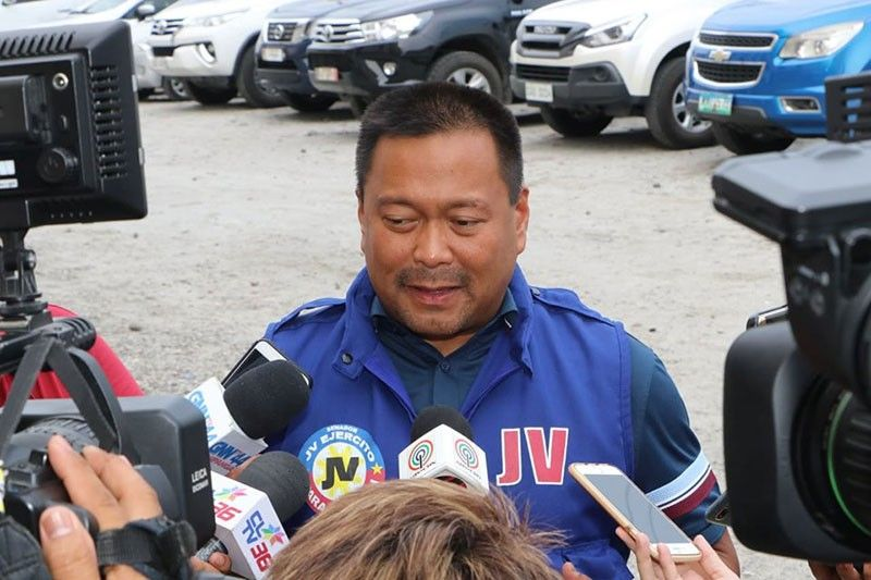 PAMPANGA. Senator JV Ejercito tells media that if given another mandate, he will push for the creation of a disaster management department which will be in-charge of the year-round implementation of disaster preparedness measures. (Chris Navarro)