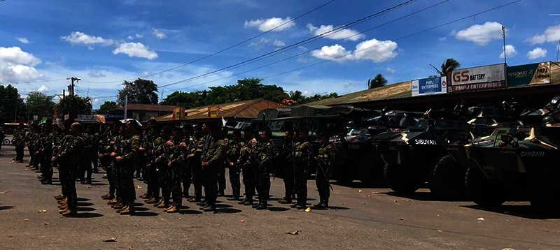 NEGROS. Some 150 soldiers were dispatched to Moises Padilla town on Saturday, May 4, 2019. (Contributed Photo)