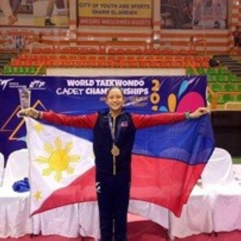 Alcantara at the 2017 World Cadet Taekwondo Championships last August 24 to 27, 2017 in Sharm el Sheikh, Egypt. (Contributed photo)