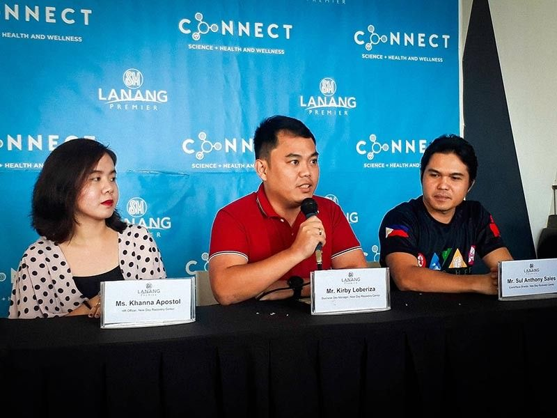 DAVAO. Kirby Loberiza, business development manager of New Day Recovery Center, talks about mental health during Connect Forum at SM Lanang Premier on May 3. (Contributed Photo)