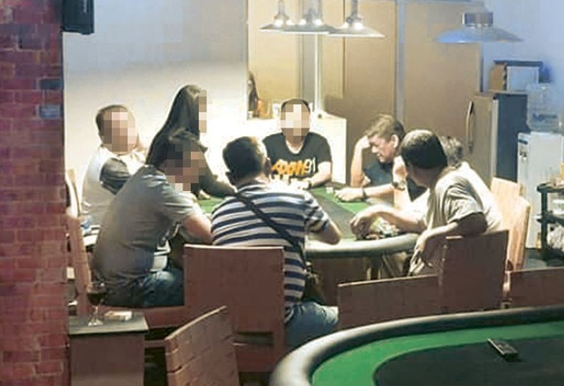 CEBU. Cebu City Mayor Tomas Osmena is photographed allegedly gambling inside an illegal poker house in Barangay Kamputhaw last January. The photographer had filed several complaints against the mayor before the anti-graft office. (Contributed photo/Conrado Romano)
