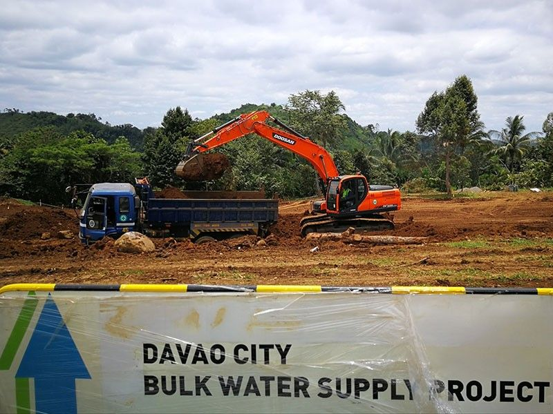 DAVAO. Excavation works for the treated water tank at the water treatment plant site in Barangay Gumalang, Baguio District have commenced. (Contributed Photo)