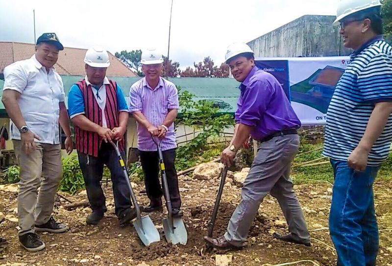 BAGUIO. Aboitiz Power senior vice president Engr. Chris Faelnar (first from left), Indigenous Peoples Mandatory Representative (IPMR) of La Trinidad, Pendon Thompson, Provincial Administrator and lawyer Noel Ngolob, La Trinidad Mayor Romeo Salda lead the ceremonial ground breaking ceremonies for the Indigenous People's building on May 4 at the DPWH compound. (Photo by Jean Nicole Cortes)