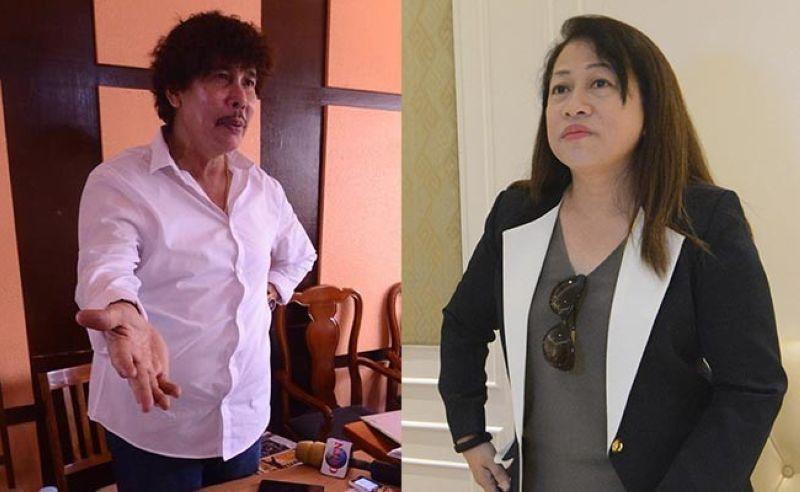 """Ruben Feliciano and Mayor Lakambini """"Neneth"""" Reluya"""