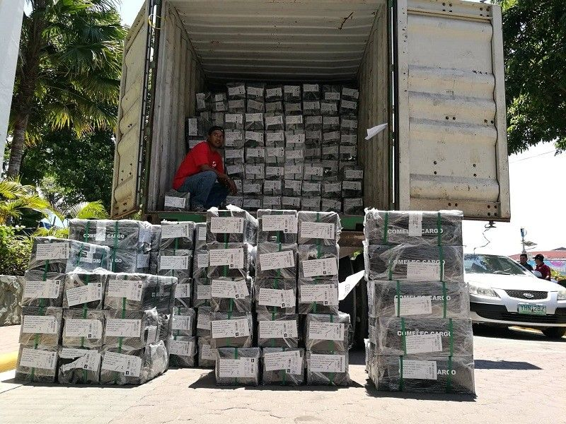 CEBU. The ballots arrived from the Commission on Elections Manila last week and were delivered to the Cebu City Hall Monday morning, May 6. (Arni Aclao)