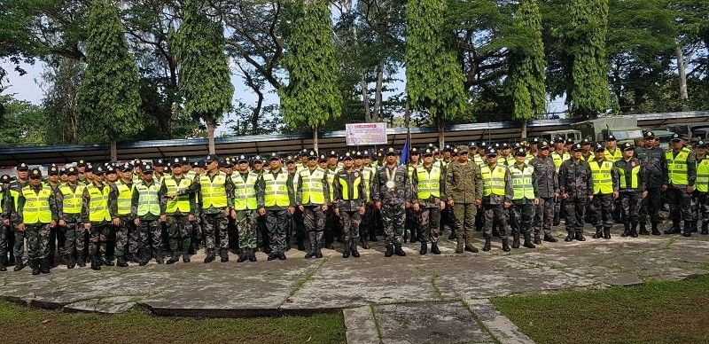 BACOLOD. Negros Occidental Police Provincial Office (Nocppo) sendoff ceremony led by Police Brigadier General Jesus Cambay Jr. of Police Regional Office- Western Visayas at Nocppo headquarters in Bacolod City, Monday, May 6. (Contributed photo)