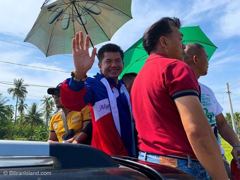 BILIRAN. Senatorial candidate Glenn Chong visits Biliran Province. (Photo courtesy of Biliran Island Facebook page)