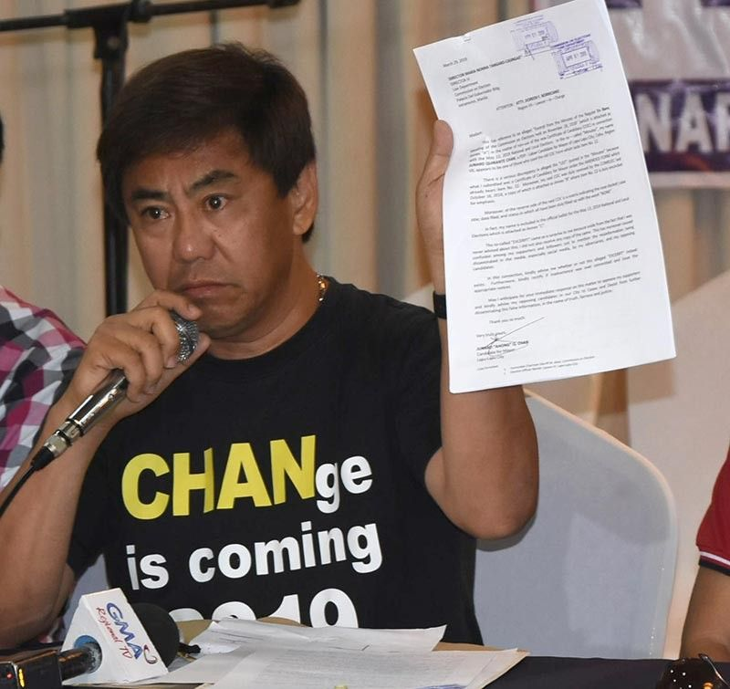 DECLARING VICTORY. Lapu-Lapu City mayoral aspirant Junard