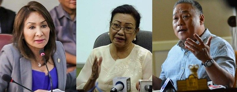 CEBU. (From left) Rep. Gwendolyn Garcia, Vice Gov. Agnes Magpale and Governor Hilario Davide III (SunStar file)
