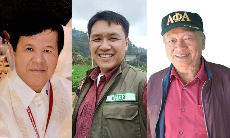 BAGUIO. Benguet congressional candidates Materno Luspian, Thorrsson Keith, and Nestor Fongwan. (Contributed photos)