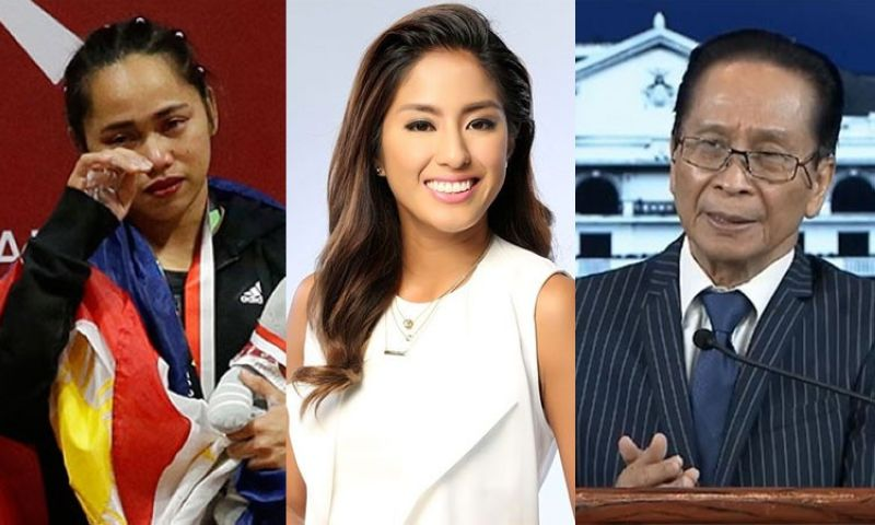 MANILA. (From left) Olympian Hidilyn Diaz, TV host Gretchen Ho, and Presidential Spokesperson Salvador Panelo. (SunStar File)