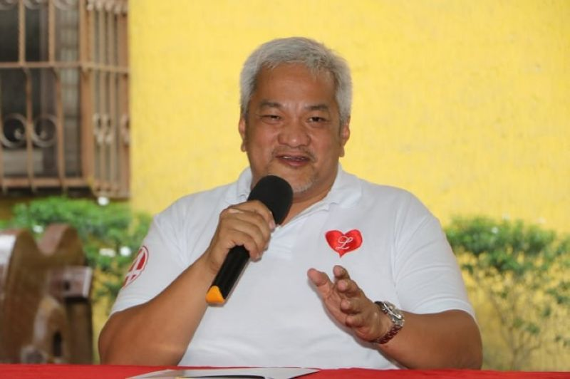PAMPANGA. Angeles City Councilor and mayoralty candidate Carmelo Lazatin Jr. calls on the Philippine National Police and Commission on Elections to guard against vote buying during Tuesday's (May 7) press conference in Angeles City. (Chris Navarro)