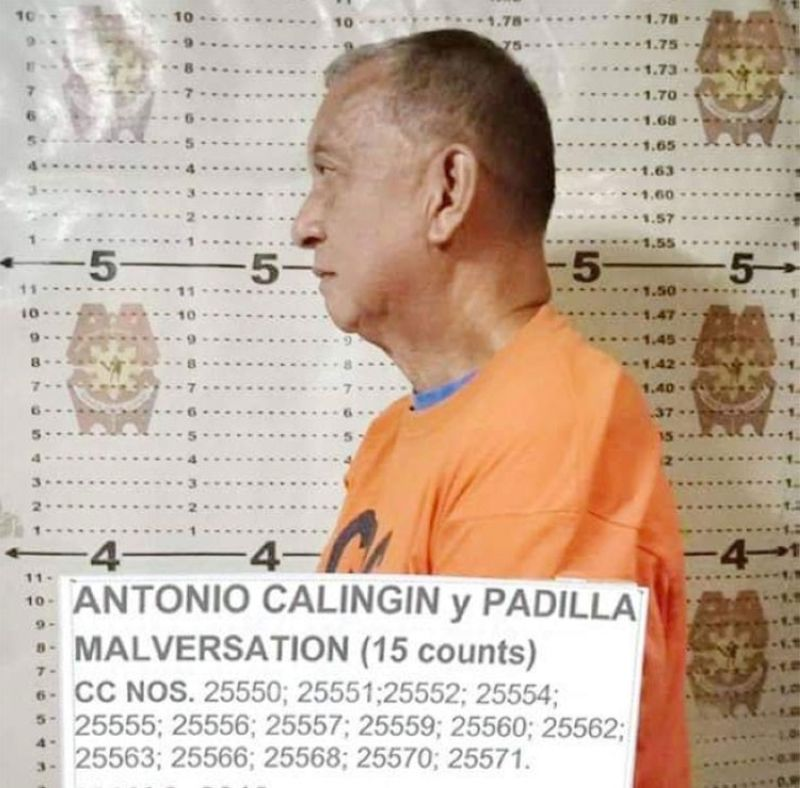 MISAMIS ORIENTAL. Mugshot of former Misamis Oriental governor Antonio Calingin. (Photo from Criminal Investigation and Detection Group)