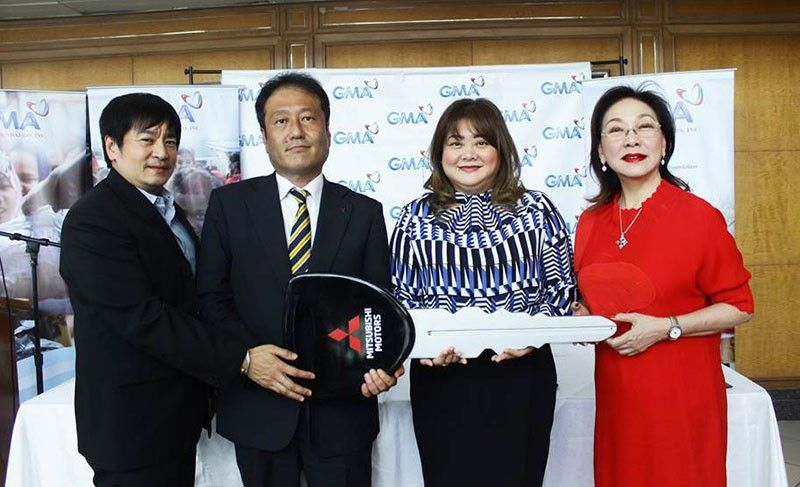 FROM LEFT: Mitsubishi Motors Philippines Corporation vice president for corporate public relations Renato S. Lampano; MMPC senior vice president for corporate division Yasuki Maruyama; GMA Kapuso Foundation executive vice president and chief operating officer Luz Annallee Escudero-Catibog; and GMA Kapuso Foundation founder and ambassador Carmela Tiangco. (Contributed Photo)