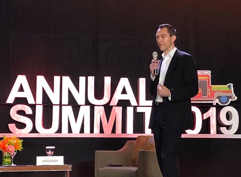 FIRST-TIME VISITOR. Airbnb co-founder and chief strategy officer Nathan Blecharczyk speaks at the Pacific-Asia Travel Association Summit at the Radisson Blu Hotel. Blecharczyk says the platform allows travelers to discover off-beat destinations. He is also visiting Cebu for the first time. (SunStar Photo)
