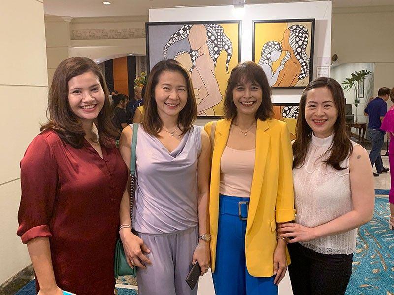DAVAO. Alex Hao, Tess Cruz, Vanessa Ong & Benjie Yu. (Jinggoy I. Salvador)