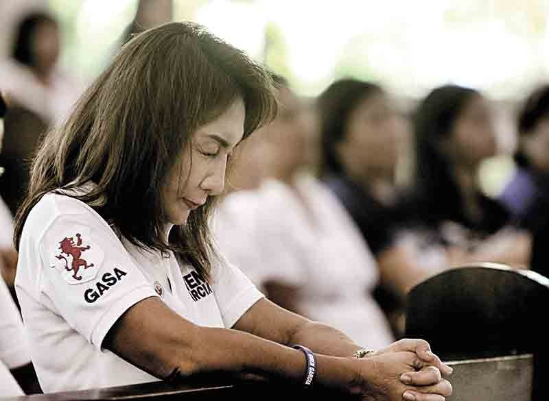 "Answered Prayers. Gubernatorial candidate Gwen Garcia thanks God ""for His continued protection"" against her political persecutors. (Sunstar File Photo Alex Badayos)"
