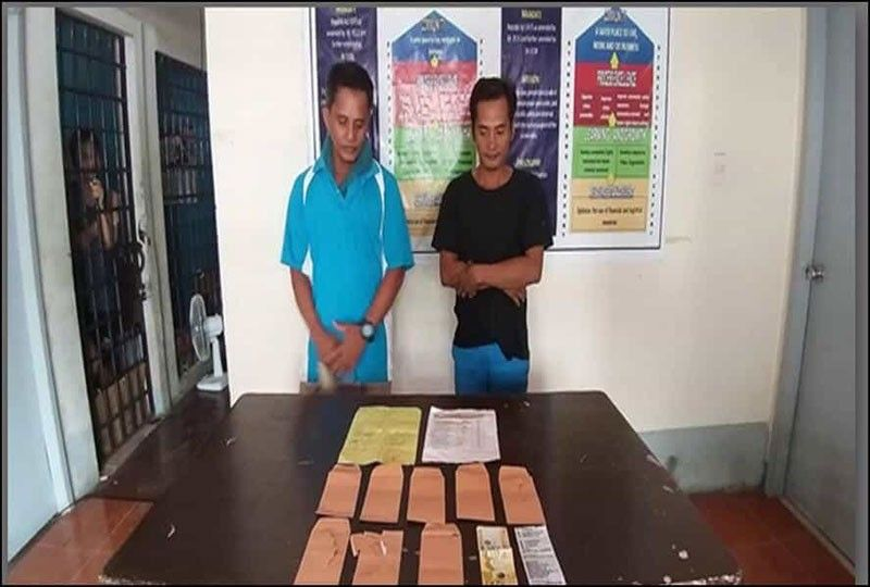 DAVAO. Two persons were arrested in Davao for vote buying. (Photo by PRO-Davao)