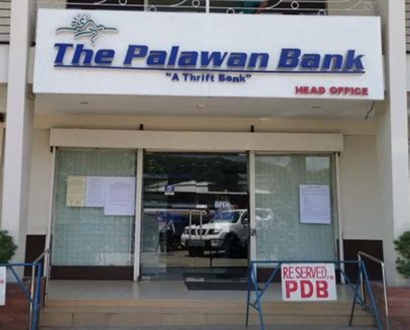 ORDERED CLOSED. The Monetary Board of the Bangko Sentral ng Pilipinas, in a resolution dated May 6, ordered the Philippine Deposit Insurance Corp. to take over The Palawan Bank. (PHOTO FROM THE PHILIPPINE DEPOSIT INSURANCE CORP.)