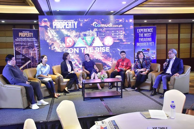 DAVAO. The panel of speakers included (left to right) Property Section Editor of Philippine Daily Inquirer Theresa Samaniego, spokesperson for the Department of Tourism-Davao Kat Anuta, Chamber of Real Estate and Builders Associations (Creba) Davao Chapter president Maria Luisa R. Abaya, Anchor Land Holdings president Elizabeth Ventura, Head for the Investors Assistance and Servicing Unit of the Davao City Investment promotions Center Christian D. Cambaya, Davao City Tourism Operations Office head Generose D. Tecson, and Davao City Chamber of Commerce and Industry Inc. president Arturo M. Milan. (Contributed photo)