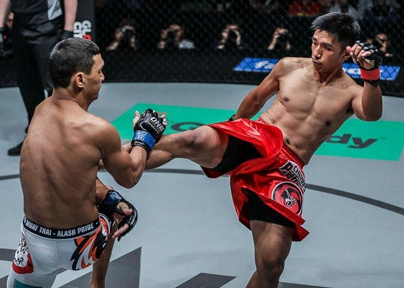 BAGUIO. Team Lakay's Geje Eustaquio shown in this file photo against Kairat Akhmetov guns for a win against a Korean debutante in One Championship on Friday, May 17. (ONE photo)