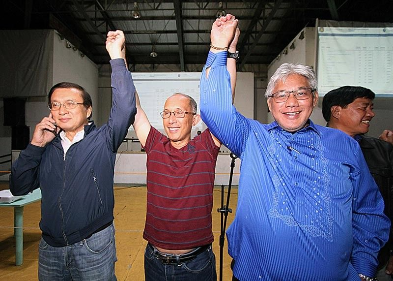 BAGUIO. Incumbent Representative Mark Go gets another fresh three-term, while retired Police General Benjamin Magalong and Councilor Faustino Olowan were elected as mayor and vice mayor, respectively, for Baguio City. (JJ Landingin)
