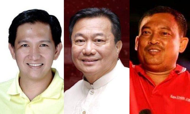 DAVAO. Si Aldu Dujali, kanhi House Speaker Pantaleon Alvarez, ug Kuya Edwin Jubahib. (Contributed photos)