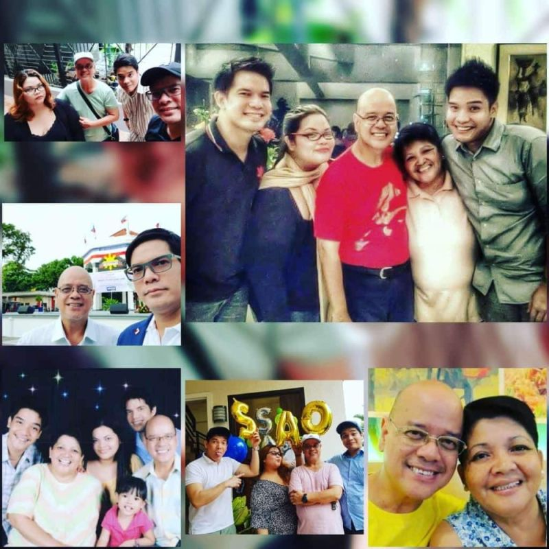 BACOLOD. With his family. His mom the late Nanette Austria Torrecarrion and others. (Contributed photo)