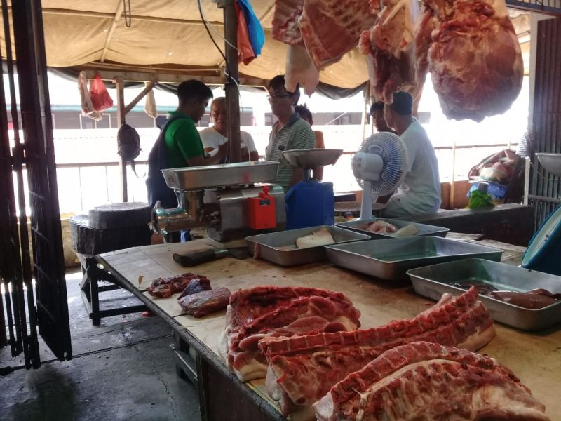 BACOLOD. Pork sold in one wet market in Negros Occidental. (Contributed photo)