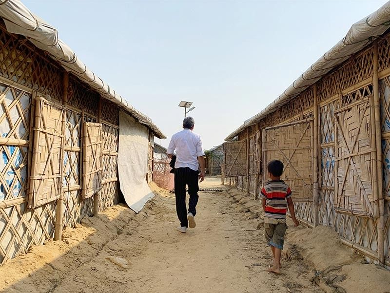 BANGLADESH. Housing units in the Kutupalong Camp.