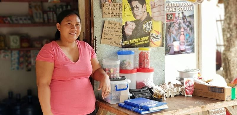 WORKING WONDER. Roslyn Chavez is one of more than 2,000 women who benefit from a livelihood program that aims to improve and sustain the economic resilience of  women in the community. (Contributed photo)