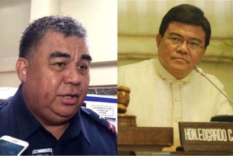 CEBU. Police Regional Office (PRO) 7 Director Debold Sinas and newly proclaimed Cebu City Mayor Edgardo Labella. (SunStar file)