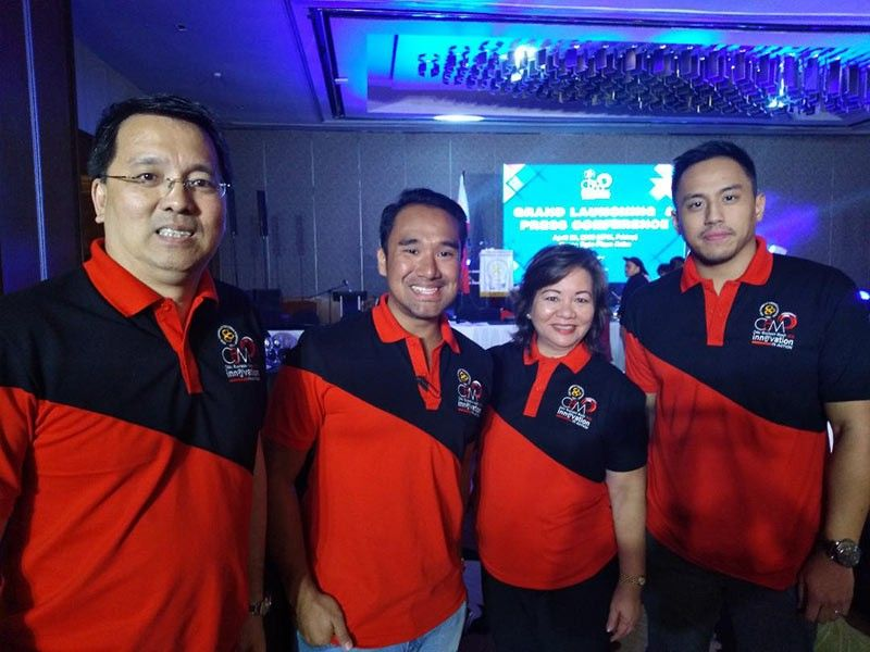 CCCI (Cebu Chamber of Commerce and Industry) vice president for membership Benny Que, Kaz Onozawa (co-chairman, Innovation Expo), Cebu Business Month 2019 overall chairperson Lilu Aliño and Karl de Pio (chairman, Innovation Expo).