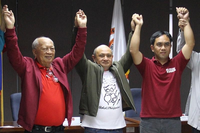 BENGUET. Nestor Fongwan, Melchor Diclas and Johnny Waguis are set to take over the top three posts in Benguet after the May 13 elections. (Photo by Lauren Alimondo)