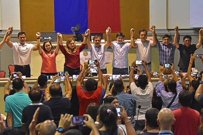 DAVAO. Proclamation of election winners. (Macky Lim)