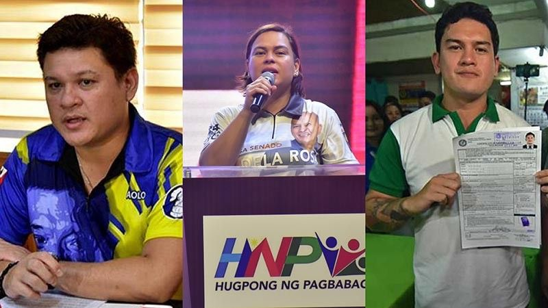 DAVAO. Paolo Duterte, Davao City Mayor Sara Duterte-Carpio, and Baste Duterte. (SunStar File)
