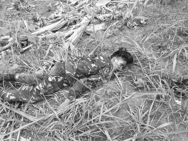 DAVAO. Rape suspect, Randy Balagisi, a Cafgu Active Auxiliary, was killed in a pursuit operation Tuesday, May 14, in Davao City. (Photo by Davao City Police Office)