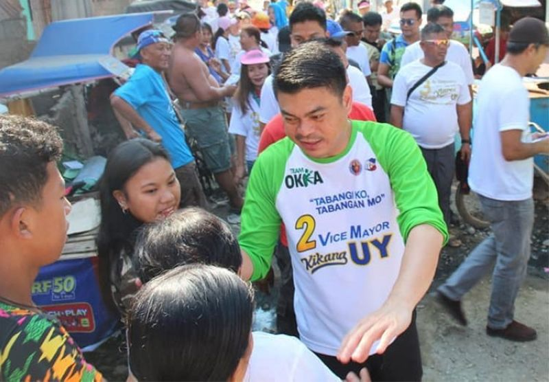 CAGAYAN DE ORO. Vice Mayor Raineir Joaquin Uy in one of his campaign sorties. (Photo from Uy's Facebook page)