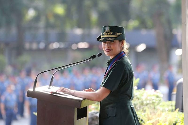 MANILA. Food and Drug Administration Director General Nela Charade Galang-Puno. (Photo from Philippine National Police Facebook page)