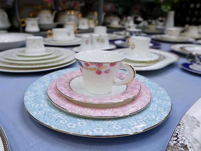 "Bone China sets. Some high-end brands sold in Europe don't carry the ""Made in Bangladesh"" mark."